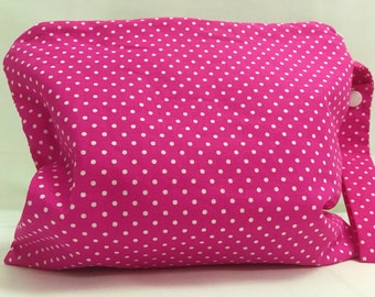 Small Zippered Wet Bag 8.5X9- Swimsuits, Diapers, Makeup, Pads, etc.