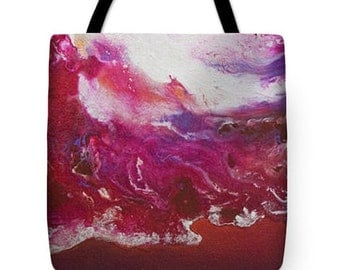 Magenta Glow Abstract Art  Tote/Bag