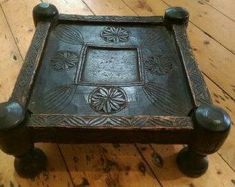 Afghan Tribal Wooden Stool/Seat