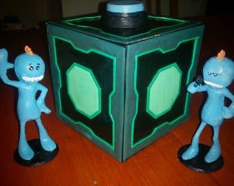 meeseek piggybank box + figurines