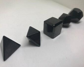 Shungite Five Platonic Solids Set - EMF PROTECTION!!