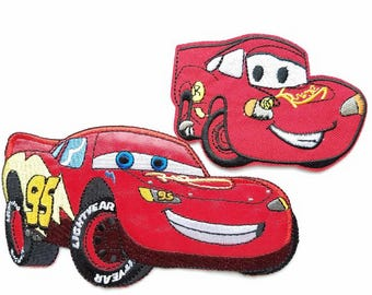 Lightning McQueen Iron On Patch - Disney's Cars  Applique - Ready to Ship