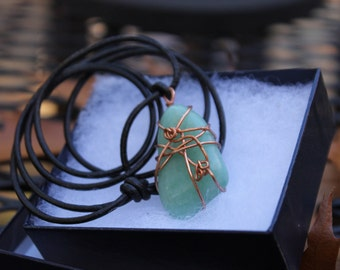 Beautiful Mint Green Stone Necklace