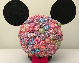 Mickey Mouse Dum Dums Centerpiece - Disney, Candy Table, Dum Dum, Candy, Party, Birthday Party