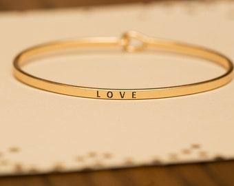 "Bangle Bracelet, ""Love"""