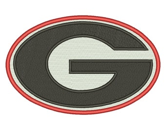 9 Size Georgia Bulldogs Embroidery Design College Football Embroidery Designs Instant Download Machine Embroidery Designs PES
