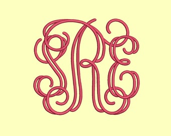 3 Size Open vine large Monogram Embroidery Fonts BX Instant Download 9 Formats Embroidery Pattern Machine BX Embroidery Fonts PES