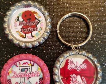 Dialysis patient magnets & keychain