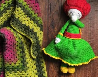 Little Giggly Girl-flower Peony Pam Zabbez doll - Zabbez pattern
