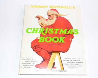 Norman Rockwell's Christmas Book 1977 1st edition - inclused an original order form! Priority Shipping! MORE Vintage Christmas in my Shoppe!