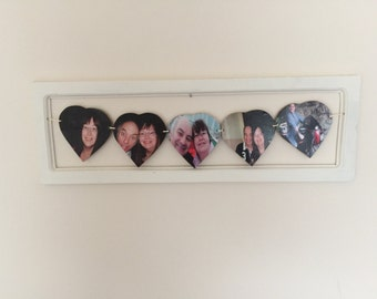 Framed 5 heart photo bunting