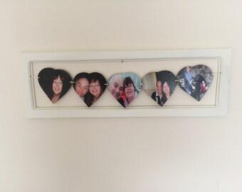 Framed 5 heart photo bunting