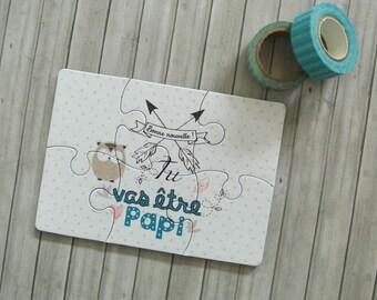 Puzzle announcement pregnancy papi