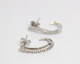 10k White Gold 0.60ctw Round White Diamond Earrings