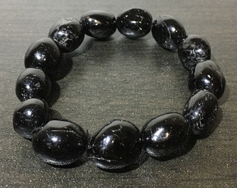 Black Tourmaline Bracelet for Protection and Removal of Negative Energy.