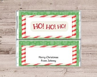 Merry Christmas Chocolate Wrapper-Merry Christmas Candy Wrapper-Holiday Chocolate Wrapper-Holiday Candy Bar Wrapper-Holiday Candy-Candy Bar