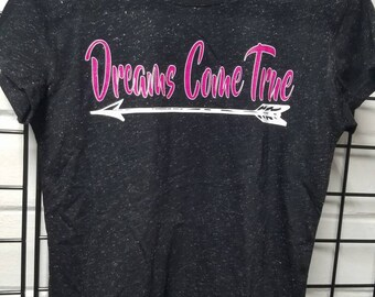 Dreams Come True black fitted  t shirt