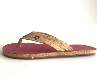 Natural Eco-Friendly Cork Sandals - RedC