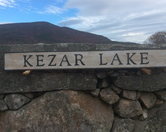 Kezar Lake Sign