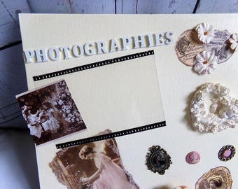 Table photo shabby chic with customizable photo
