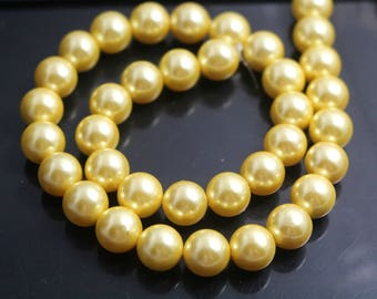 12 mm South Sea Shell Pearls beads, Round shell Beads,  15 inches one strand