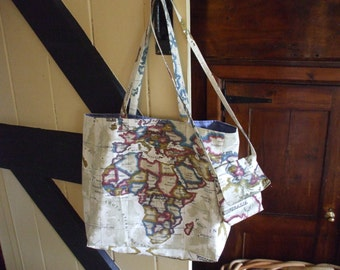 Map of the World tote bag