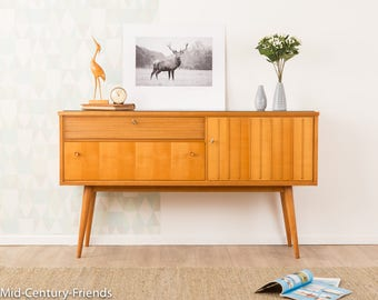Lovely sideboard, 50s, chest of drawers vintage 60's (703018)