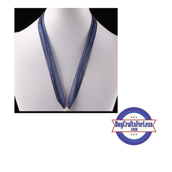 Ribbon CORD necklace, NAVY  **FREE Shipping with orders 10 dollars+**
