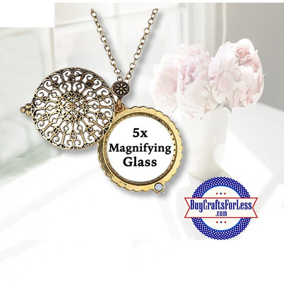 Magnifying Glass PENDANT, Iron Work SCROLL +FREE SHiPPing & Discounts*