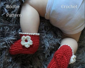 Crochet Booties Pattern/Crochet Bootie Pattern/Crochet Baby Booties Pattern/Crochet Pattern/Baby Booties Pattern