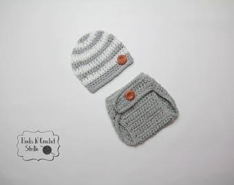 Newborn boy crochet outfit, newborn crochet outfit,  newborn baby boy, newborn baby crochet outfit, newborn diaper cover, crochet outfi
