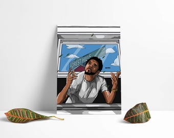 J. Cole Poster Print Art Wall
