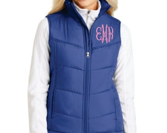 Personalized Monogrammed Puffer Vest