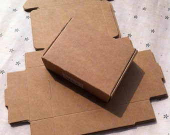 50pcs 8.5*7*2.3CM Handmade soap box Kraft paper boxes small boxes of jewelry box candy box