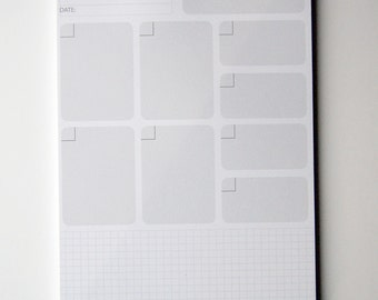 A5 Project & Goals Notepad / To Do List / Daily Planner / Productivity Planner / Desk Pad