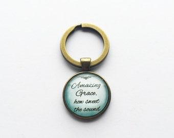 Amazing Grace Pendant Keychain/Neckace