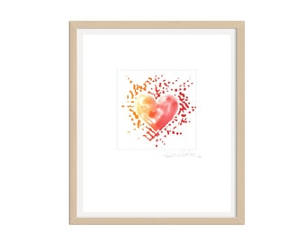 Limited Edition Etching- Radient Heart
