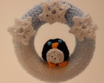 Snowy Penguin Mini Wreath
