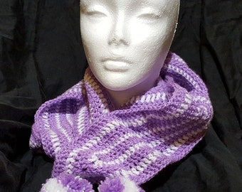 Sparkly Crochet Scarf
