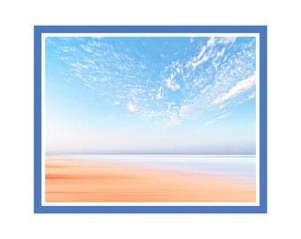 Desert Meets Ocean Print, Nature Wall Art, Large Printable Poster, Prints for Life Studio, Print 153