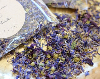 Something Blue Confetti Petal Toss ~ Personalised Wedding Favour ~ 'INDIGO' ~ Cornflower, Jasmine and Mallow Flower ~ Biodegradable