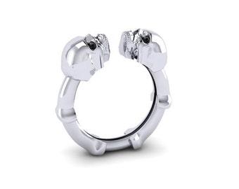 Womens Skull Ring Sterling silver