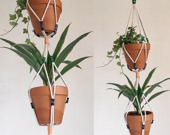 Natural Cotton Twin Plant Hanger