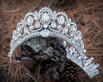 Crystal Wedding Tiara, Bridal Tiara, Wedding Crown, Princess Tiara, Wedding Tiara, Crystal Wedding Crown, Bridal Crown, Luxury crown