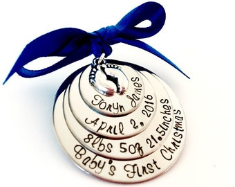 Sale!!  Baby's first Christmas ornament personalized baby's first Christmas ornament customer baby's first Christmas ornament monogrammed