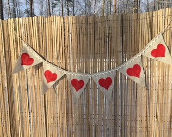 Wedding banner, hearts banner, wedding gerland, love banner,wedding decor