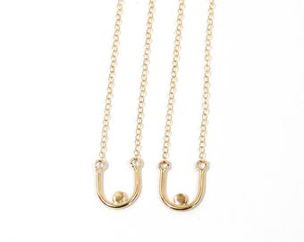 Gold BREAST Friends Necklaces
