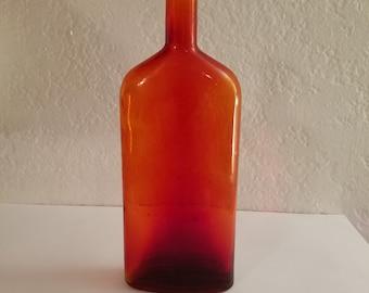 Vintage Glass - Red Flask