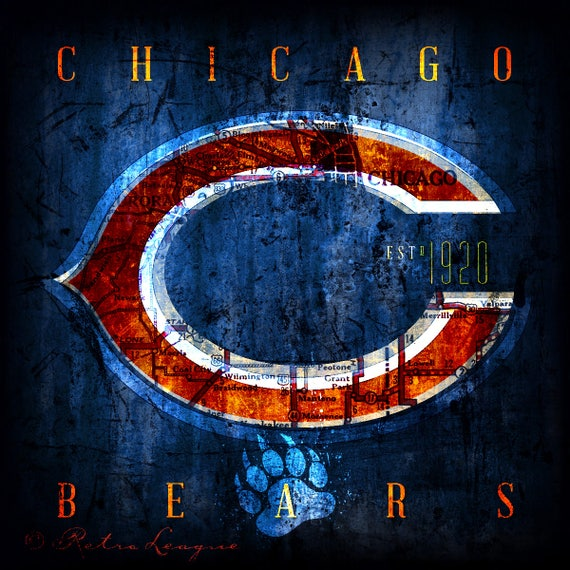 Wedding Gifts Chicago: Chicago Bears Map Art Perfect Birthday Wedding By MapNation