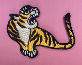 Handmade Patch: Japanese Sujakan Style Tiger
